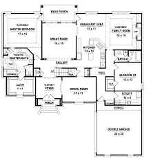 four bedroom single story house plans 4 bedroom one story house plans wonderful with picture of