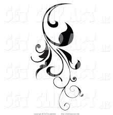 Black Scroll Design Clip Art Clip Art Of A Vertical Black Scroll Vine Design Element