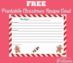 Christmas Recipe Cards Template Free Printable Christmas Recipe Card Pace Avid Free