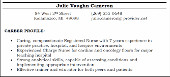 career profile screenshot writing objectives for resume