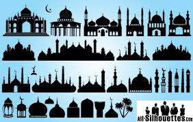 Vectors Silhouettes Free Vectors Silhouette Islamic Mosque Pack All Silhouettes
