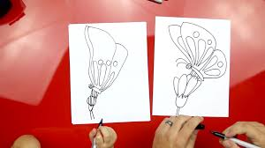 how to draw a erfly on a flower