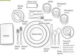 Dining Table Settings Formal Dinner