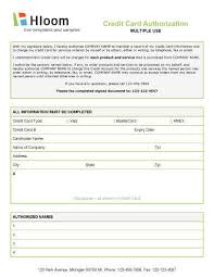 Credit Consent Form Credit Card Authorization Forms Hloom Com