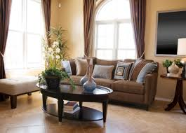 Small Picture home decorating ideas on a budget with white sofa and round table