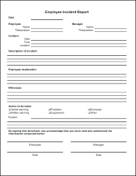 General Incident Report Form Template Patient Uk Food Incident