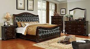 TRADITIONAL 4PC BEDROOM Set Genuine Marble Top Dresser NS ...