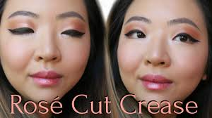 tutorial monolid rose gold cut crease summer chic makeup tutorial j wong