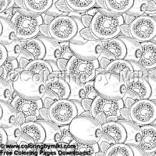 Fruits And Vegs Pattern Kiwi Coloring Page 1788 Ultimate Coloring