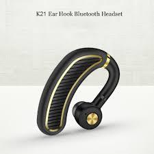 k21 300mah sport uniaural bluetooth earphone headset with mic business sweatproof waterproof