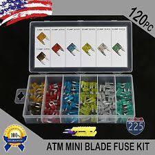 mini fuse new 120pc mini blade fuse assortment auto car motorcycle suv fuses kit apm atm