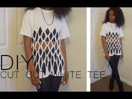 d i y cut out white tee