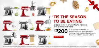 kitchenaid new attachments. holiday mir promo kitchenaid new attachments