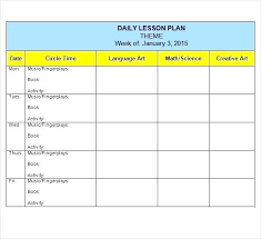 Fall Lesson Plans For Toddlers Lesson Plan For Toddlers Template Lesson Plan Template For Toddlers