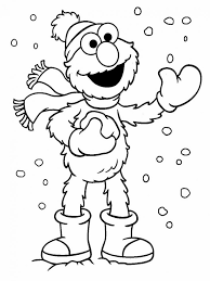 Sesame Street Coloring Pages Bear Baby Printable Coloring Page For