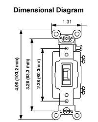 leviton 1224 2gl 20 amp, 120 277 volt, toggle locking 4 way ac Leviton Decora 4 Way Switch Wiring Diagram dimensional drawing · wiring diagram leviton decora 4 way switch wiring diagram