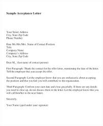 Accepting Offer Letter Accepting Offer Letter Format After Job Is Accepted Then