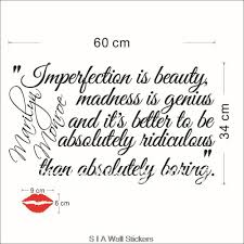 Quotes For Beautiful Girl In English Best Of New High Quality English Quotes Wall Stickers Imperfection Is Beauty