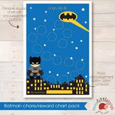 A Fun Batman Reward Chart Can Be A Great Tool For Potty
