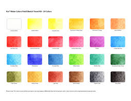 Gansai Tambi Color Chart Watercolor Colors At Getdrawings Com Free For Personal Use