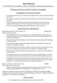 ... Resume Writer 3 Resume For Professional Writer Beth Brown ...