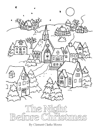 The Night Before Christmas Coloring Pages Nightmare Jack Skellington