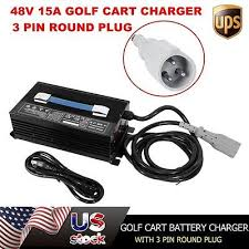 ez go charger receptacle wiring ez image wiring new 48v ezgo golf cart battery charger 15a forklift 48 volt 15amp on ez go charger