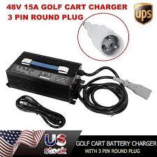ez go charger receptacle wiring diagram ez image new 48v ezgo golf cart battery charger 15a forklift 48 volt 15amp on ez go charger