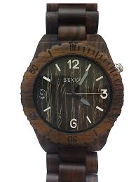 mens wood watch sekkai mens wood watch w1040 v1