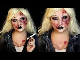 bruised bride of chucky sfx makeup tutorial jordan hanz you