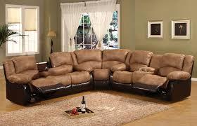 sofa sofa lazy boy reclining modern design black leather and brown skin corner shape there