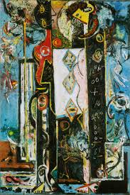 abstract expressionism the view from the top by richard dorment  jackson pollock male and female 1942 43 click image to enlarge