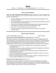Resume Objective Customer Service Customer Service Resume Qualifications Sweetpartner 87