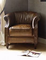 vintage leather club chair small