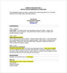 sample sales associate resumes sample sales associate resume 8 free documents in pdf doc