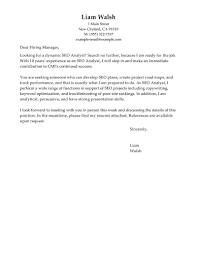 How To Write A Cover Letter For A Copywriting Job Best Seo Cover Letter Examples Livecareer