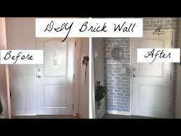 diy fake brick wall in 30 min julie