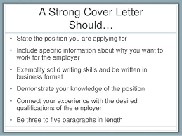 What Should I Include In A Cover Letter 8 A Strong Cover Include