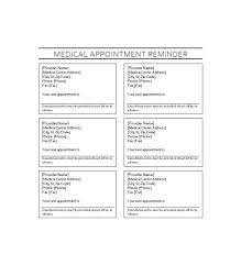Appointment Cards Template Word Medical Appointment Reminder Template Appointment Reminder Template