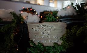 christmas decorations ideas for office. Students Not Allowed In Forbidden Forest Christmas Decorations Ideas For Office