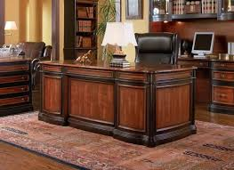 wood home office desks.  Office Two Tone Wood Executive Home Office Desk With 5 Drawers To Desks