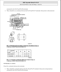 fuses 2007 hyundai santa fe gls 2007 electrical fuses