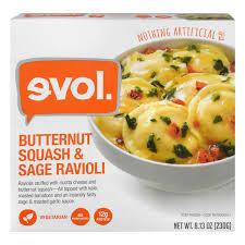evol ravioli ernut squash sage