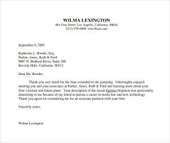 Gallery Of Cover Letter Post Interviewed Sample Thank You Letter
