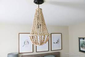 remodelaholic how to make a wood bead chandelier regarding stylish household diy wood bead chandelier remodel