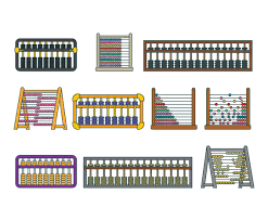 Abacus Wall Art Abacus Vector Set Vector Art Graphics Freevectorcom
