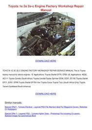 Toyota Engine 2e Service Manual