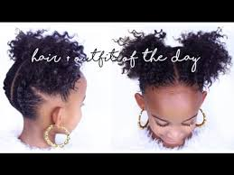 Hairstyles For Kids Girls 47 Best 24 EASY NATURAL HAIR STYLES For Kids Yolanda Renee YouTube
