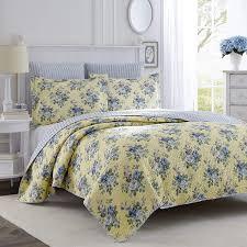 laura ashley linley quilt set full queen home kitchen size tailored bedskirt inch drop memory mattress