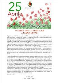 25 APRILE 1945 - 25 APRILE 2020 LA LIBERAZIONE - Comune di Lodi Vecchio